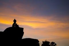 Заход солнца в Naiguata стоковое фото rf