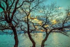 Заход солнца в Novi Vinodolski Стоковые Фотографии RF