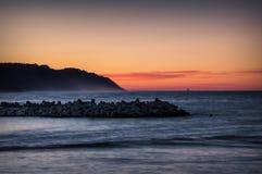 Заход солнца в pesaro Стоковое Изображение RF