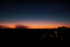 Заход солнца в Pilsen Стоковая Фотография