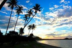 Заход солнца в samui Таиланде Стоковое фото RF