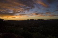 Заход солнца в Santa Rosa Стоковое Изображение