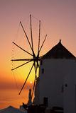 Заход солнца в Santorini стоковые изображения rf