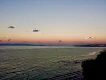 Заход солнца в tanger Стоковые Изображения RF