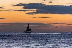 заход солнца Гавайских островов Стоковые Фотографии RF