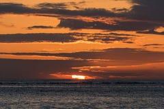 заход солнца Гавайских островов Стоковые Фото