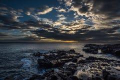 заход солнца Гавайских островов Стоковое Фото