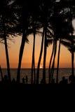 заход солнца Гавайских островов стоковое изображение rf