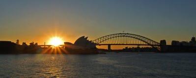 Заход солнца гавани Сиднея Стоковое Изображение