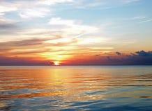 Заход солнца Галвестона Стоковая Фотография