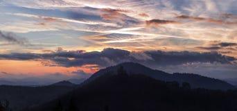 заход солнца Германии Стоковое Фото