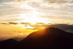 заход солнца Германии Стоковое фото RF