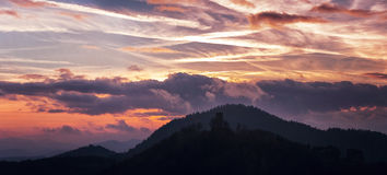 заход солнца Германии Стоковые Фото