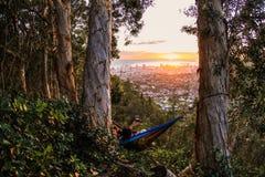 Заход солнца Гонолулу Стоковые Изображения