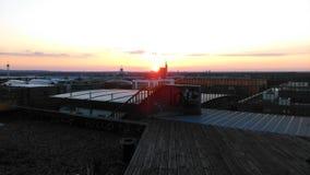 Заход солнца горизонта Ганновера Стоковые Изображения RF