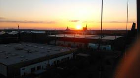 Заход солнца горизонта Ганновера Стоковое Изображение
