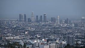 Заход солнца горизонта Лос-Анджелеса акции видеоматериалы
