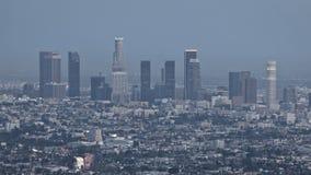 Заход солнца горизонта Лос-Анджелеса сток-видео