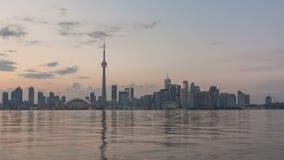 Заход солнца горизонта Timelapse Торонто акции видеоматериалы