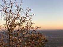 Заход солнца горного вида Стоковые Фотографии RF