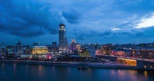 Заход солнца города Москвы видеоматериал