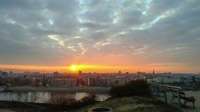 Заход солнца города Стоковое фото RF