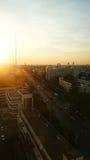 Заход солнца городского пейзажа Таиланд Стоковое фото RF