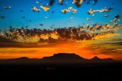 Заход солнца горы таблицы Стоковое фото RF