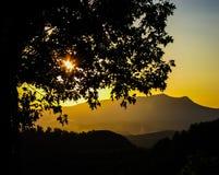 Заход солнца горы Smokey Стоковое Изображение RF