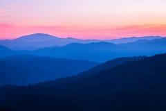 заход солнца гор Крита Греции Стоковое фото RF