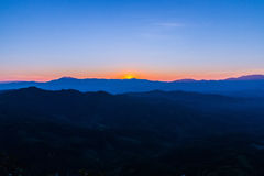 заход солнца гор Крита Греции Стоковое Изображение RF