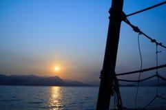 Заход солнца голубого неба Стоковые Фотографии RF