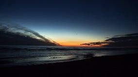 заход солнца голубого неба Стоковые Фото