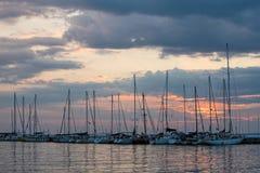 заход солнца Греции Стоковое фото RF