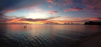 Заход солнца 4 Гуама Стоковое фото RF