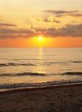 Заход солнца, Дания Стоковые Фото
