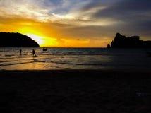 Заход солнца Дон Phi Phi Koh Стоковые Изображения