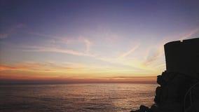 Заход солнца Дубровник Стоковая Фотография
