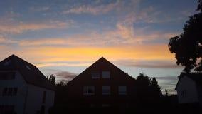 заход солнца лета в Германии Стоковые Изображения RF
