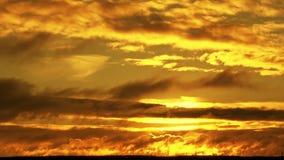 заход солнца Желт-апельсина пламенистый сток-видео