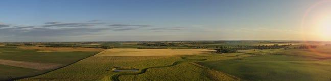 Заход солнца заводи Midwest простой Стоковая Фотография