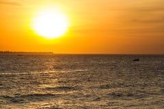 Заход солнца, Занзибар Стоковые Фото