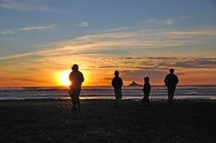 Заход солнца западного побережья Стоковые Фотографии RF