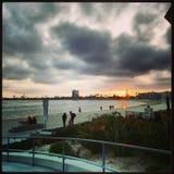 Заход солнца залива ветрила Стоковые Фотографии RF