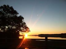Заход солнца залива стоковые изображения rf
