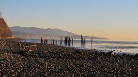 Заход солнца залива Bellingham Стоковая Фотография