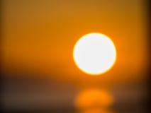 Заход солнца зимы Bokeh в Борнмуте Стоковые Фото