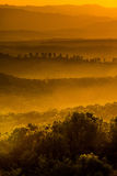 Заход солнца золота Стоковые Фото