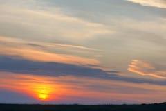 Заход солнца злаковика Стоковое Изображение