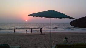 заход солнца Индии Стоковое Изображение